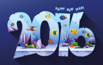 Happy New Year Fish Tank E1454373810780